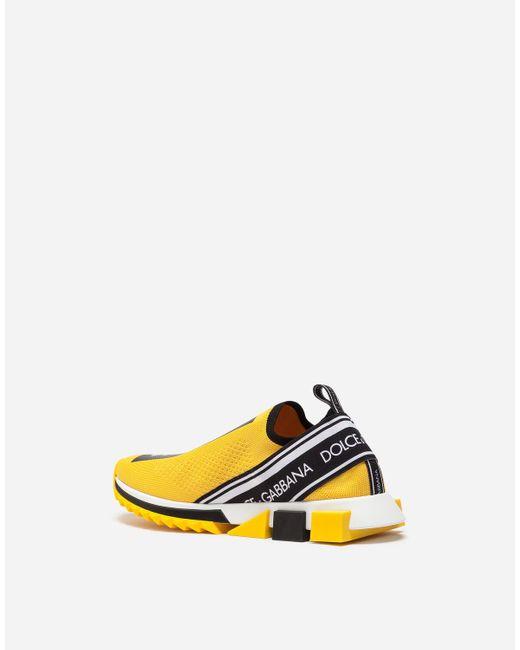 Zapatillas Sorrento Con Logo Dolce & Gabbana de hombre de color Yellow