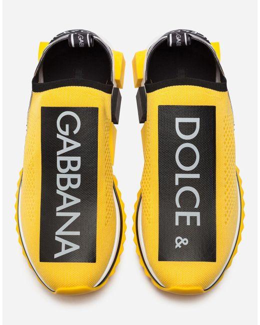 Sneakers Sorrento Con Logo di Dolce & Gabbana in Yellow da Uomo