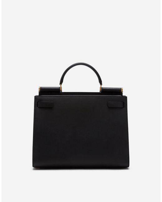Tote bag Sicily 62 in pelle di Dolce & Gabbana in Black