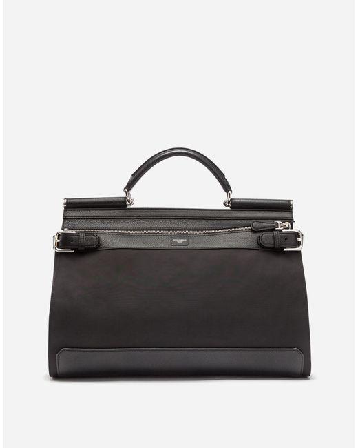 Dolce & Gabbana - Black Nylon Sicily Work Bag - Lyst
