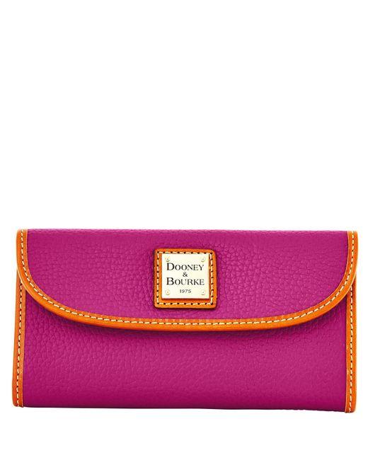 Dooney & Bourke Pink Pebble Grain Continental Clutch Wallet
