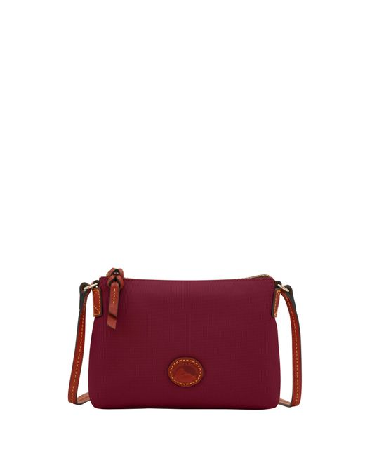 Dooney & Bourke Red Nylon Crossbody Pouchette