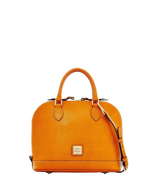 Dooney & Bourke Natural Saffiano Zip Zip Satchel