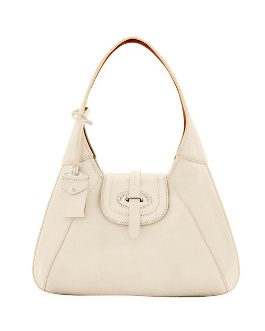 Dooney & Bourke - Natural Florentine Toscana Front Stitch Hobo - Lyst