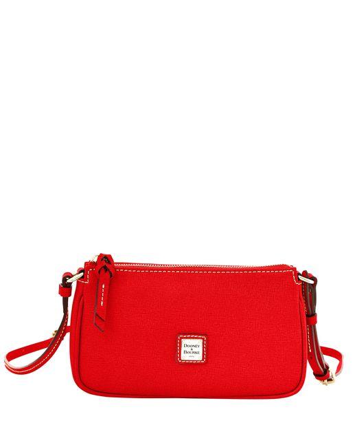 Dooney & Bourke Red Saffiano Lexi Crossbody
