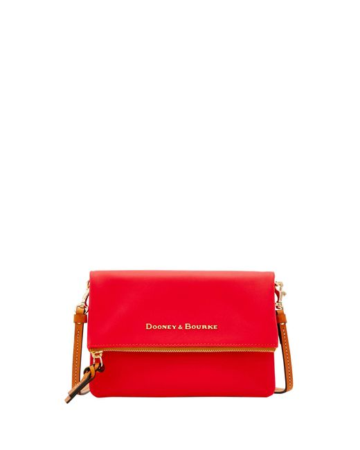 Dooney & Bourke - Red City Foldover Zip Crossbody - Lyst