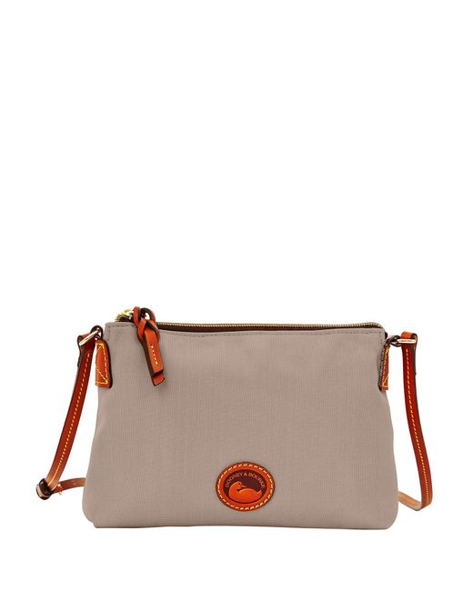 Dooney & Bourke - Gray Crossbody Pouchette - Lyst