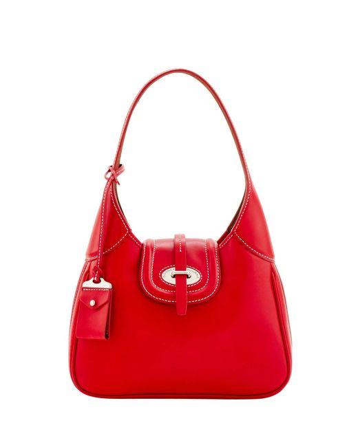 Dooney & Bourke - Red Florentine Toscana Small Hobo - Lyst