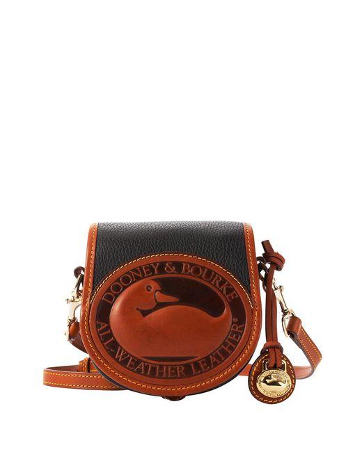 Dooney & Bourke Black All Weather Leather 2 Duck Bag