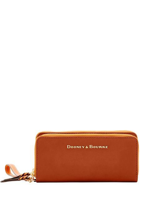 Dooney & Bourke Natural City Double Zip Wallet