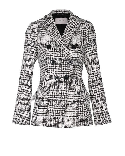 Dorothee Schumacher | Multicolor Offbeat Check Jacket Sleeve 1/1 | Lyst