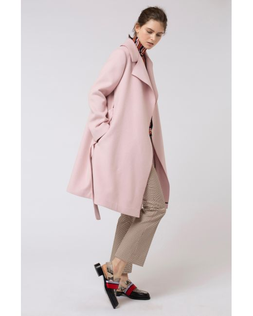 lyst dorothee schumacher frenzy finesse coat in pink. Black Bedroom Furniture Sets. Home Design Ideas