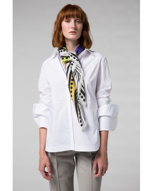 lyst dorothee schumacher casual chic blouse 1 1 in white. Black Bedroom Furniture Sets. Home Design Ideas