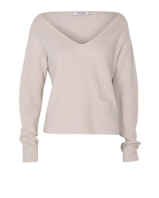 Dorothee Schumacher | Gray Drape And Dream Pullover V-neck 1/1 | Lyst