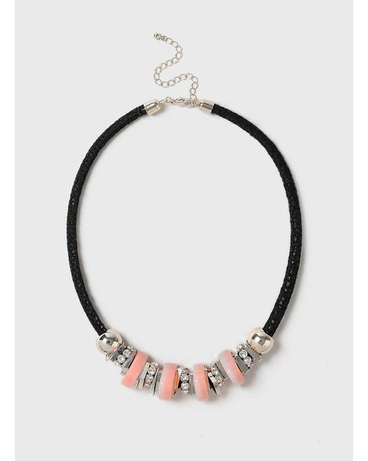Dorothy Perkins | Pink Mixed Bead Necklace | Lyst