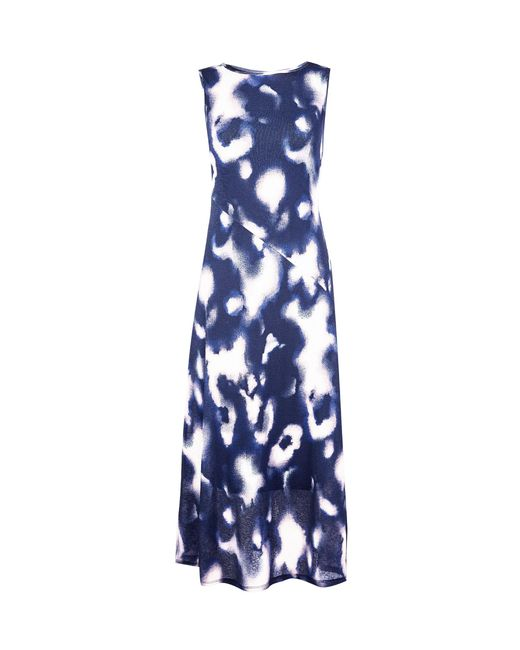Dorothy Perkins Blue Tie Dye Mesh Midi Dress, Blue