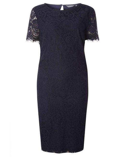 Dorothy Perkins | Blue Tall Navy Lace Shift Dress | Lyst