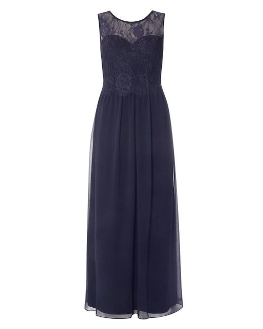Dorothy Perkins - Blue Showcase Petite Navy Grace Maxi Dress - Lyst