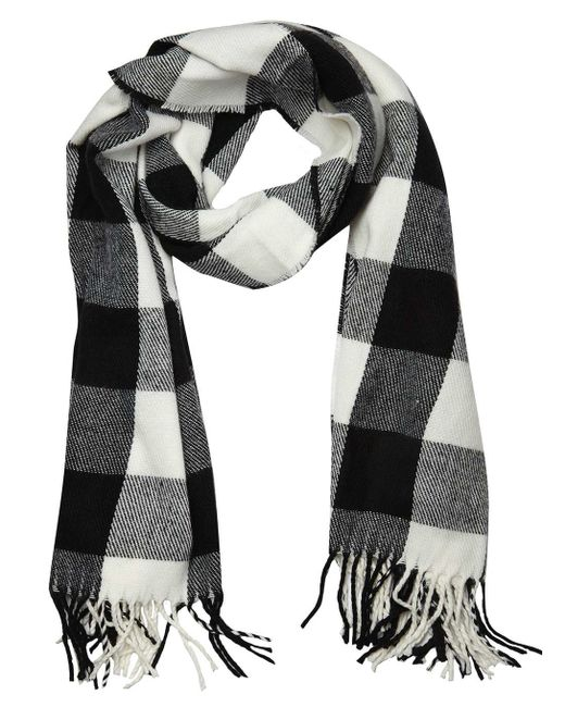 Dorothy perkins Monochrome Gingham Check Scarf in Black