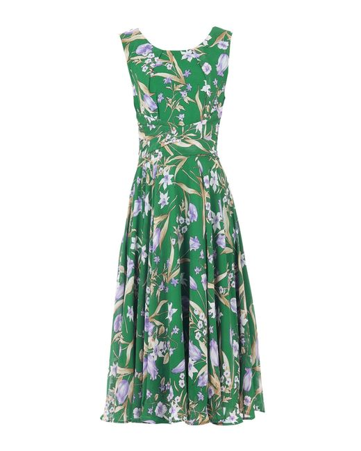 Dorothy Perkins Jolie Moi Green Floral Print Chiffon Midi Dress, Green