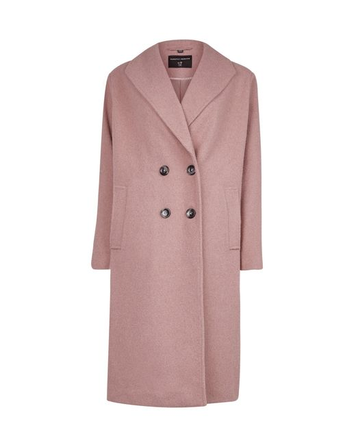 Dorothy Perkins Pink Double Breasted Coat, Pink