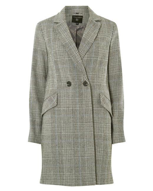 Dorothy Perkins Multicolor Multi Colour Check Coat