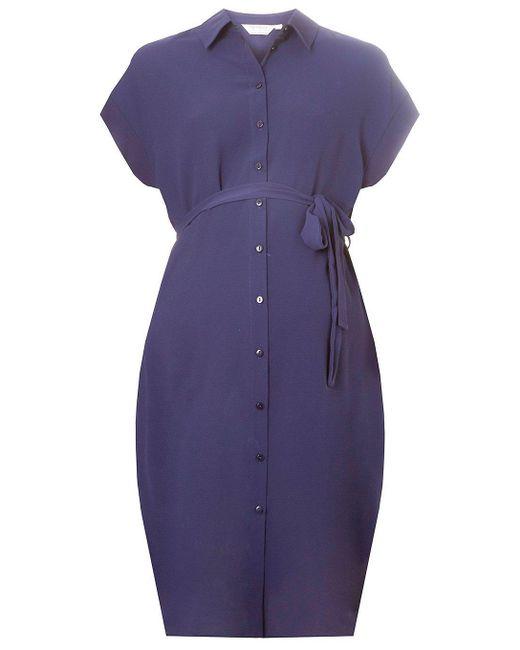 Dorothy Perkins - Blue Maternity Navy Shirt Dress - Lyst