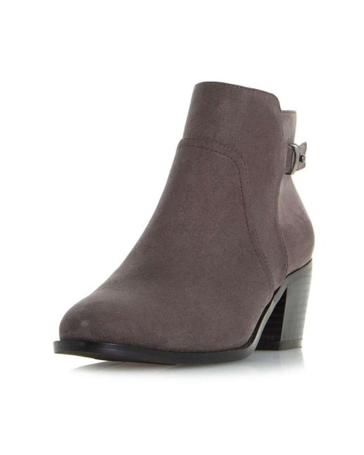 Dorothy Perkins   Gray Head Over Heels By Dune Grey 'pascalle' Ankle Boots   Lyst