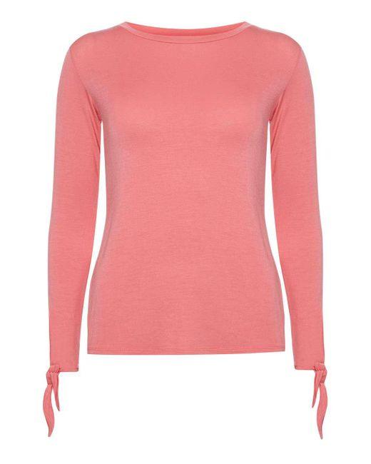 Dorothy Perkins   Pink Petite Coral Tie Top   Lyst