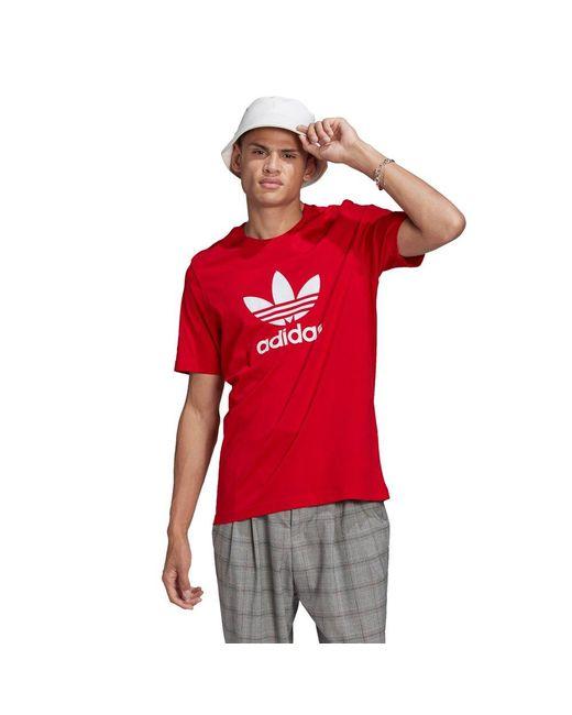 Adidas Originals Red Trefoil T-shirt for men