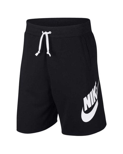 Nike Black Sportswear Alumni Shorts for men