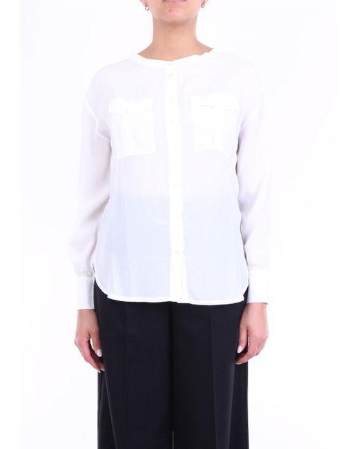 Blusa coreana blanca de Alpha Studio de color White