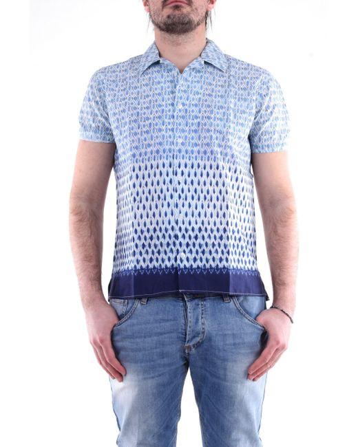 Camicia di colore azzurro e bianco di Daniele Alessandrini in Blue da Uomo