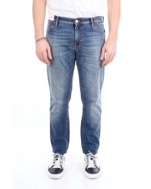 Jean slim fit avec 5 poches Pt05 pour homme en coloris Blue