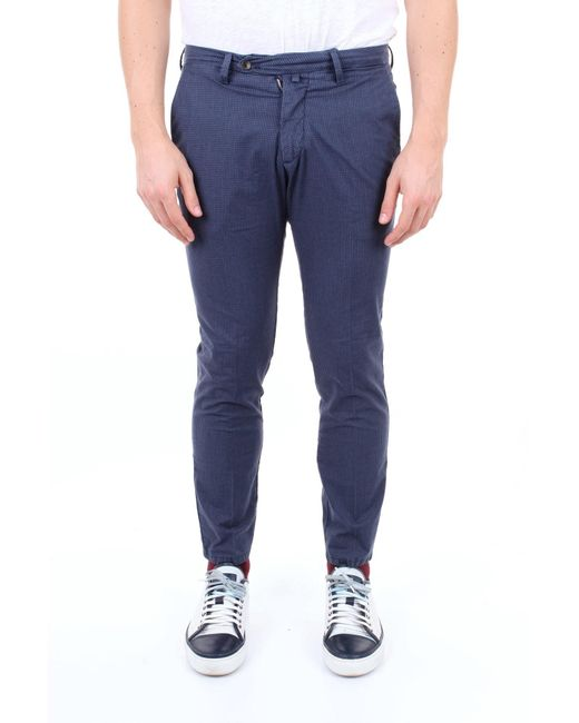 Pantaloni classici di Michael Coal in Blue da Uomo