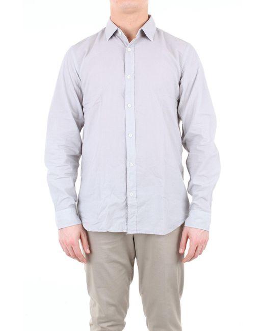 Chemise couleur unie à manches longues Hartford pour homme en coloris Gray