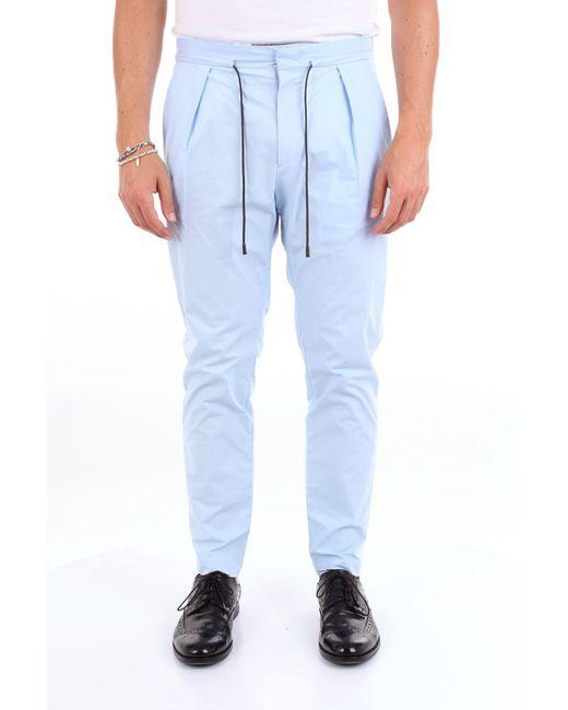 Pantaloni chino di Michael Coal in Blue da Uomo