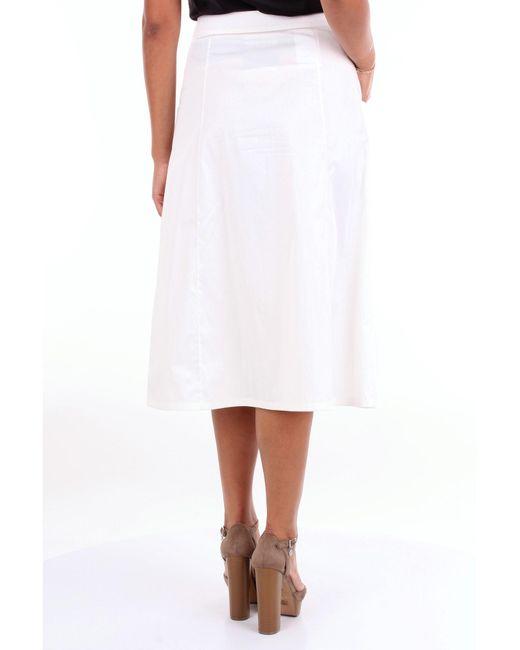 Gonne al ginocchio di Moschino Couture in White