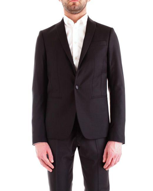 5s0661/a1wk giacca in lana bistretch Patrizia Pepe de hombre de color Black