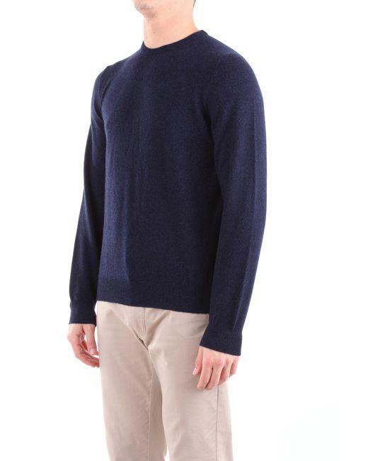 Trousse suéter Fedeli de hombre de color Blue