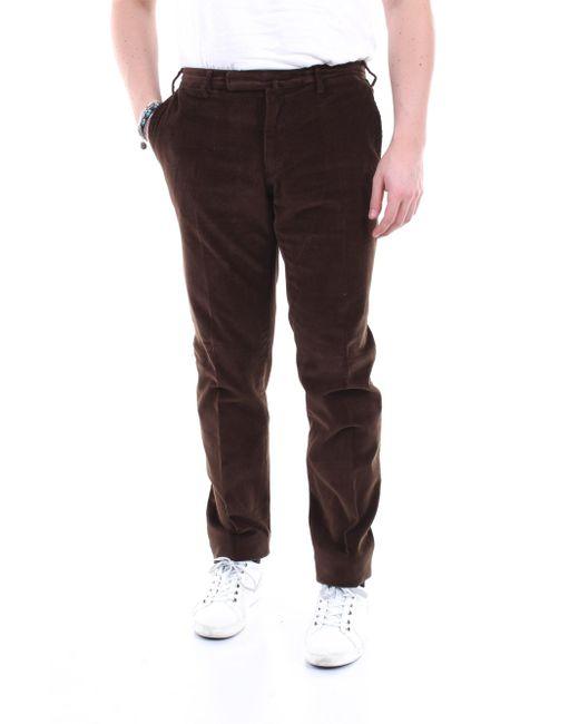 Pantalon régulier Incotex pour homme en coloris Brown