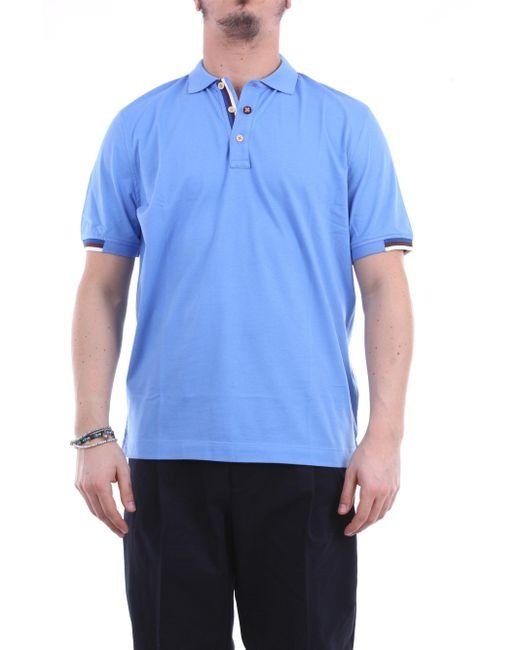 Polo manga corta Heritage de hombre de color Blue