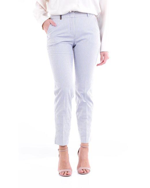 Pantalone chino multicolor di Peserico in Blue