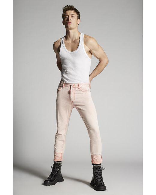 メンズ DSquared² ファイブポケット Pink