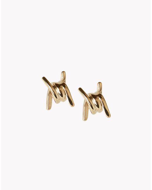 DSquared²   Metallic Mini Babe Wire Earrings   Lyst