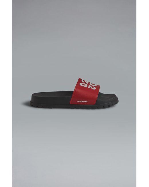 メンズ DSquared² サンダル Red