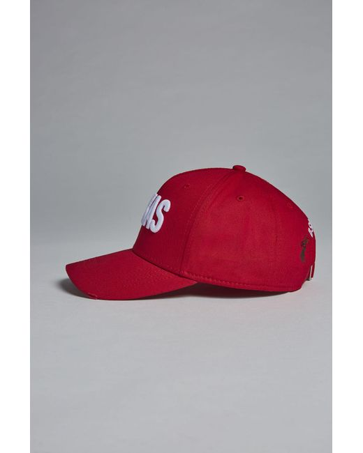 ... DSquared² - Red Texas Baseball Cap for Men - Lyst ... 2c0a0e1497c3
