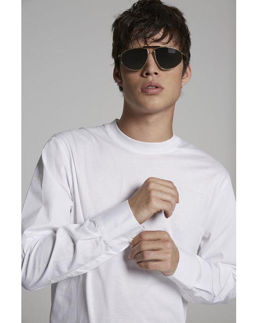 メンズ DSquared² ロングスリーブt シャツ White
