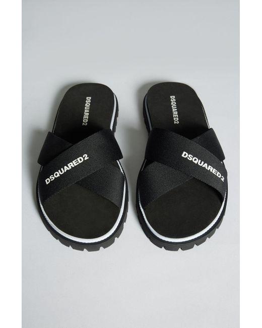 bee2da22f ... DSquared² - Black Carioca Flip Flop for Men - Lyst