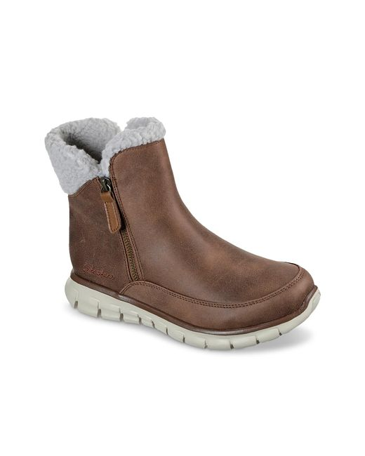 Skechers Brown Synergy Snow Boot